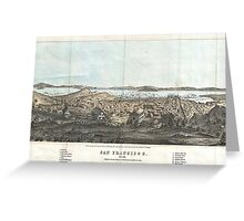 Vintage Pictorial Map of San Francisco (1854)  Greeting Card