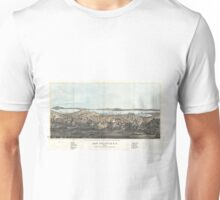 Vintage Pictorial Map of San Francisco (1854)  Unisex T-Shirt