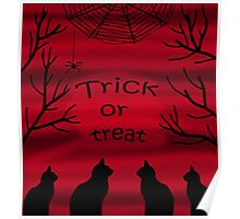 Trick or treat - black cats Poster