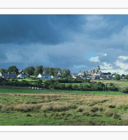 Cloudy Skies over Wigtown Sticker