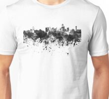 Dallas skyline in black watercolor Unisex T-Shirt