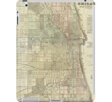 Vintage Map of Chicago (1857) iPad Case/Skin