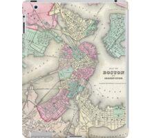 Vintage Map of Boston Harbor (1857) iPad Case/Skin