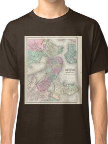 Vintage Map of Boston Harbor (1857) Classic T-Shirt