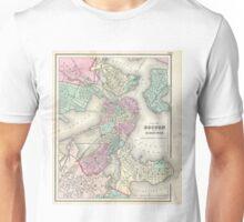 Vintage Map of Boston Harbor (1857) Unisex T-Shirt
