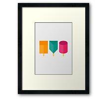 Popsicle Shapes Framed Print