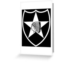 2nd Infantry white stencil Greeting Card