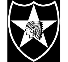 2nd Infantry white stencil Photographic Print