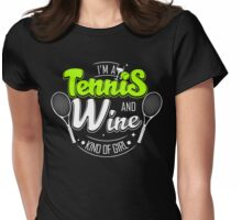 Tennis and Wine Womens Fitted T-Shirt