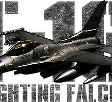 F-16 Fighting Falcon by deathdagger