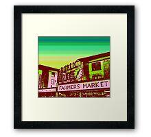 Pikes Market Vintage Art Framed Print