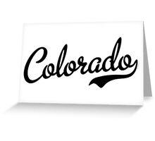 Colorado Script Black Greeting Card
