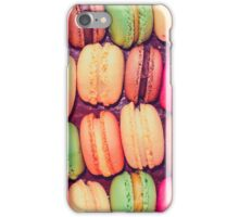 French macaroons,pastries,cookies,food hipster,modern,trendy iPhone Case/Skin