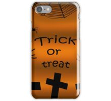 Trick or treat - cemetery iPhone Case/Skin
