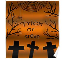 Trick or treat - cemetery Poster