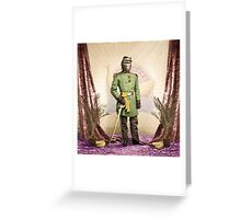 General Simian of the Glorious Banana Republic Greeting Card