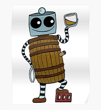 Whiskey Barrel Bot Poster