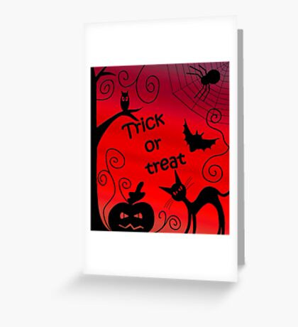 Trick or treat - Halloween landscape Greeting Card