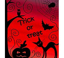 Trick or treat - Halloween landscape Photographic Print