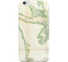 Vintage Map of Coastal Washington State (1857) iPhone Case/Skin