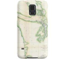 Vintage Map of Coastal Washington State (1857) Samsung Galaxy Case/Skin