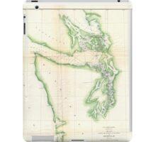 Vintage Map of Coastal Washington State (1857) iPad Case/Skin