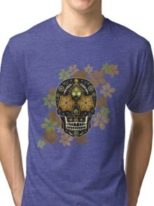 Mexican sugar skull,Day of dead Tri-blend T-Shirt