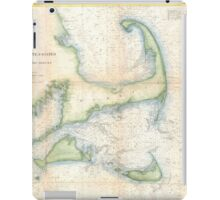 Vintage Map of Cape Cod (1857)  iPad Case/Skin