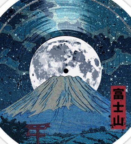 Mt. Fuji Night LP Sky Sticker