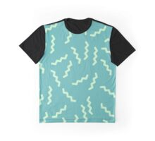 lightning strikes in green Graphic T-Shirt