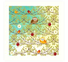 Autumn birds Art Print