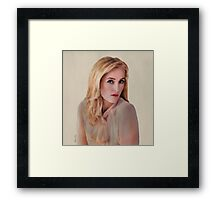 Gillian Anderson oil color painting  Framed Print