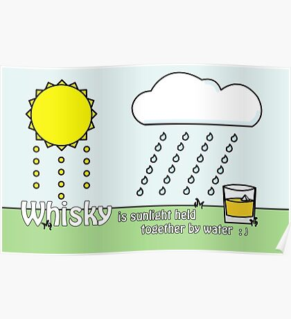 Whisky Sunlight Poster