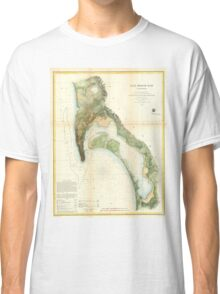 Vintage Map of The San Diego Bay (1857) Classic T-Shirt