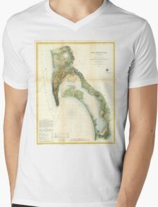 Vintage Map of The San Diego Bay (1857) Mens V-Neck T-Shirt