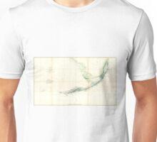 Vintage Map of The Florida Keys (1859) Unisex T-Shirt