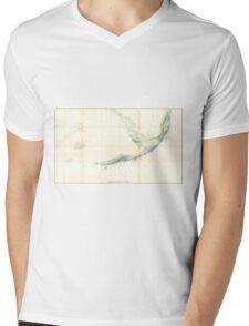 Vintage Map of The Florida Keys (1859) Mens V-Neck T-Shirt