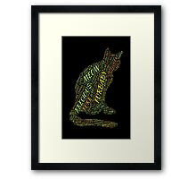 Cat Furbaby TypographyStyle Framed Print