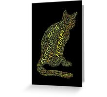 Cat Furbaby TypographyStyle Greeting Card
