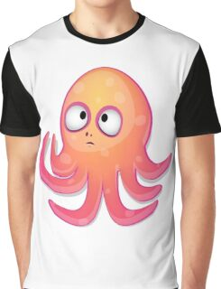Cute Baby Cartoon Octopus Graphic T-Shirt