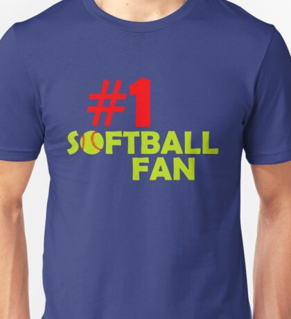 #1 Softball Fan Unisex T-Shirt