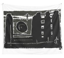 Night City Scenery - Symbolic Cityscape.  Wall Tapestry