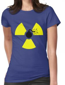 Nuclear Bomb Symbol Womens Fitted T-Shirt