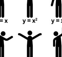 Dance with mathematics Sticker