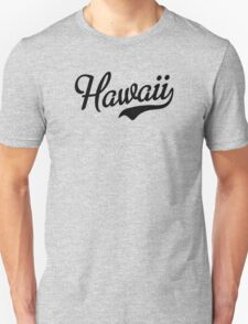 Hawaii Script Black T-Shirt