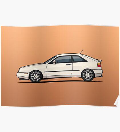 Micha's White VW Corrado G60 Poster