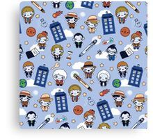 Doctor Who pattern  Canvas Print