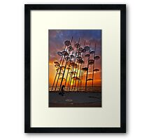 Waterproof sunset Framed Print