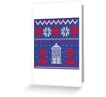Doctor who Christmas TARDIS design  Greeting Card