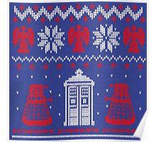 Doctor who Christmas TARDIS design  Poster